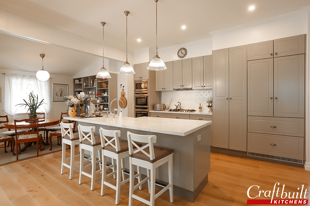 Soft Hamptons Style Grange, Brisbane QLD Kitchen Renovation