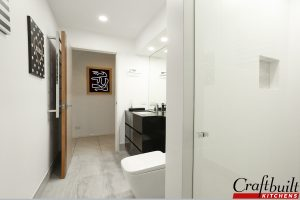 Stylish Black Bathroom Coomera, Brisbane QLD Bathroom Renovation