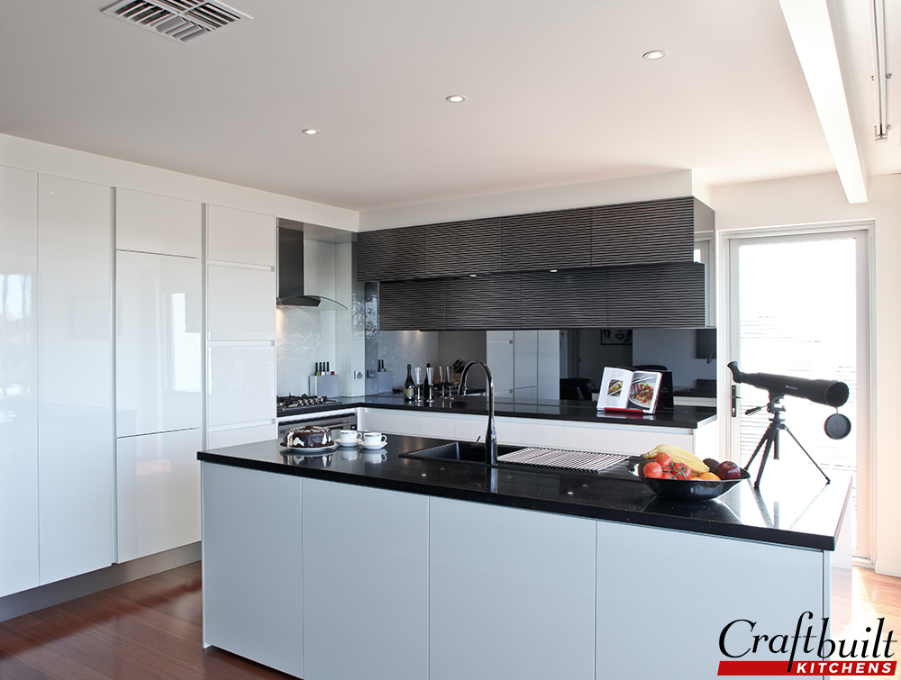 black and white kitchen design pictures. Black And White Kitchen Design Renovation  Craftbuilt Kitchens