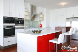 Small red kitchen