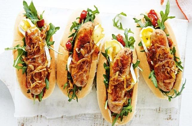 Easy Hot Dog Recipe With Caramelised Onion