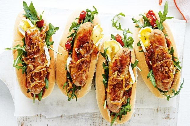 Easy Hot Dog Recipe With Caramelised Onion