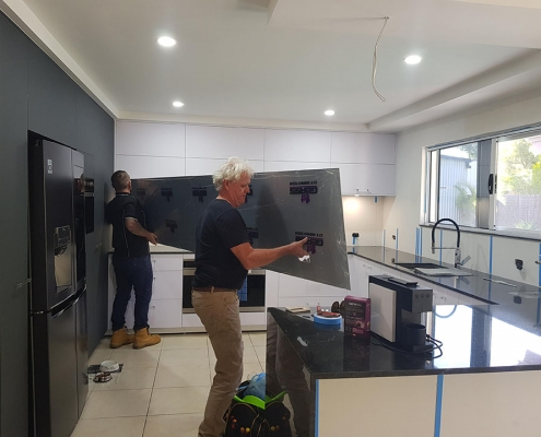 Glass Splashback Installation